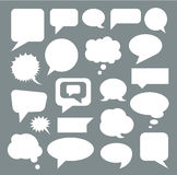 Set of empty white speech bubbles. Flat. Vector Stock Images