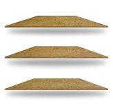 Set of empty wooden shelves Royalty Free Stock Photography