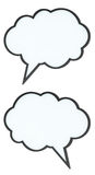 Set of emptyspeech bubbles (tag clouds). Set of empty high-quality speech bubbles (tag clouds) on white Stock Images