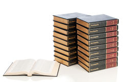 Set of encyclopedias Stock Photos