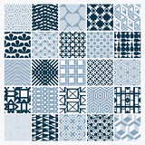 Set of  endless geometric patterns composed with different Royalty Free Stock Photo