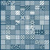 Set of  endless geometric patterns composed with different Royalty Free Stock Image
