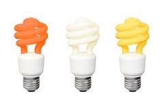 Set Energooszczędne fluorescencyjne lampy ilustracji