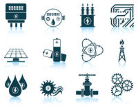 Set of energy icons Royalty Free Stock Photography