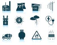 Set of energy icons. Stock Image