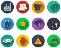 Set of energy icons Royalty Free Stock Image