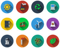Set of energy icons Royalty Free Stock Photos
