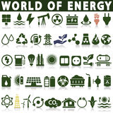 Set of energy icons Stock Images