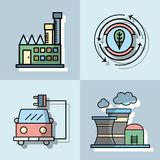 Set energy technology to conservation the planet. Vector illustration Royalty Free Stock Image