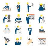 Set of Engineer Icons Royalty Free Stock Photos