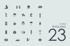 Set of England icons Royalty Free Stock Images