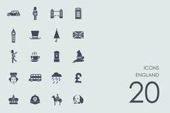 Set of England icons Stock Photos