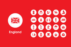Set of England simple icons Royalty Free Stock Photos