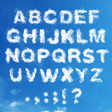 Set - the English alphabet from clouds Royalty Free Stock Photos