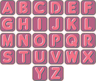 Complete color set of English alphabets Stock Images
