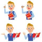 Set of the English teacher for men royalty free illustration