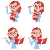 Set of the English teacher for women stock illustration