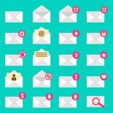 Set of envelope icon Stock Photography