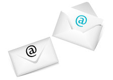 Set of envelopes. Set of  2 different envelopes Stock Photos