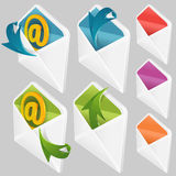 Set of Envelopes Stock Images