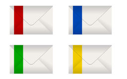 set of envelopes Royalty Free Stock Images