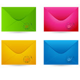 Set of envelopes Royalty Free Stock Photo