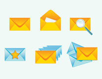 Set of envelopes icons Stock Image