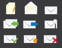 Set of envelopes icons Stock Image