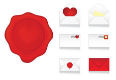 Set of envelopes icons Stock Images