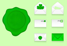 Set of envelopes icons Royalty Free Stock Photo