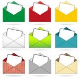 Set of envelopes Stock Images