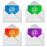 A set of envelopes Royalty Free Stock Photos