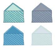 Set of envelopes Royalty Free Stock Image