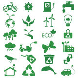 Set of environmant and ecology icon Royalty Free Stock Photos
