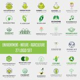 set of environment agriculture logo, icon element collection logo download