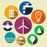 Set of environment friendly icons Stock Images