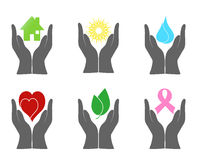 Set of environment icons Stock Photos