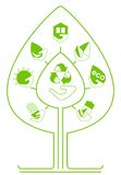 Set of environmenta icons as tree. Сonceptual image of a green energy and pollute.Ecology icons. Ecology icons set. Ecology icons flat. Ecology icons Royalty Free Stock Photography