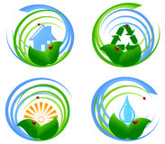 set  of an environmental design element Stock Photo