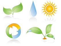 Set of environmental icons Royalty Free Stock Photo