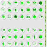 Set of environmental icons Royalty Free Stock Photos