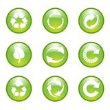 Set of environmental  recycling icons Royalty Free Stock Photos