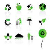 Set of environmental / recycling icons Stock Photography