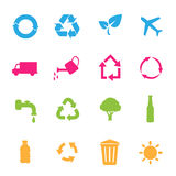 Set of environmental / recycling icons Stock Image