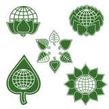 Set Of Environmentally Friendly Signs Stock Image