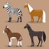 Set equines. Vector Illustration Stock Images