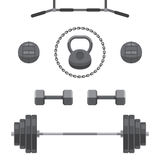 Set of equipment for GYM Royalty Free Stock Photo