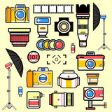 Set of equipment for photo studio. Royalty Free Stock Photo