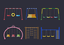 Set of equipment in a playground,Vector illustrations Royalty Free Stock Photography