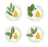 Set of  essential oil labels se. Royalty Free Stock Image